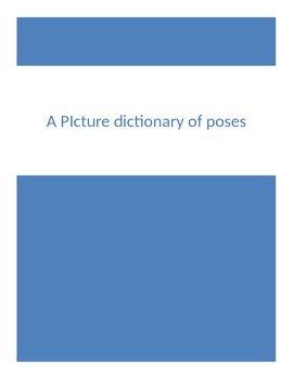 Picture dictionary of yoga poses