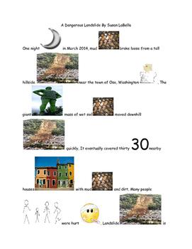 Picture story-a dangerous landslide