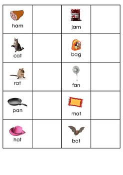 Picture to Word Matching - Lowercase and Uppercase