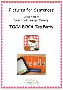 Pictures for Sentences - Toca Boca Tea Party