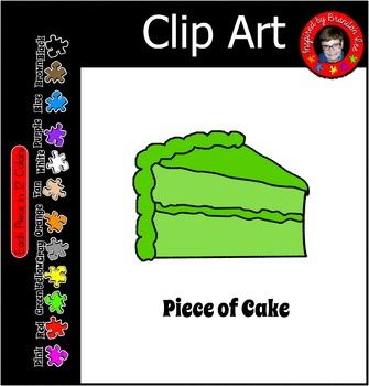 Piece of Cake clip art in 12 colors ~ Commercial Use