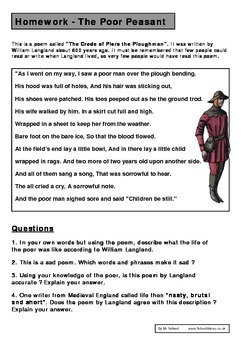 Piers the Ploughman Poem