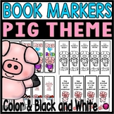 PIG  BOOK MARKERS