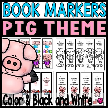 PIG THEME BOOK MARKERS and REWARDS
