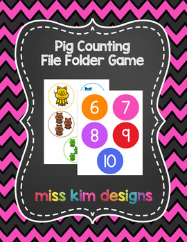 Pig Counting File Folder Game for Early Childhood Special