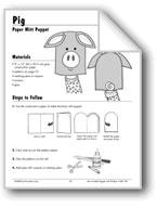 Pig Paper Mitt Puppet