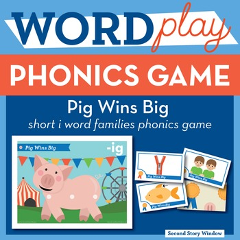 Pig Wins Big Short I Word Families Phonics Game