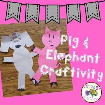 Pig and Elephant Craftivity
