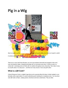 Pig in a Wig Concepts with Q.R.Codes
