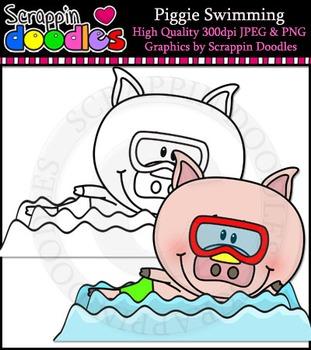 Piggie Swimming Single Image