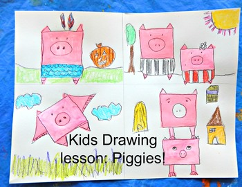 Piggies Cartooning Lesson Drawing Lesson Telling Stories w