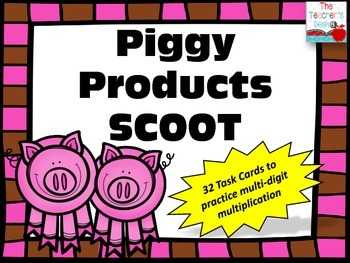 Piggy Products SCOOT Multi-Digit Multiplication