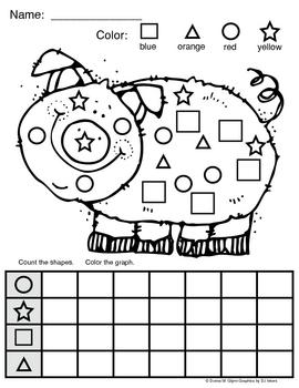 Piggy Shape Graph!