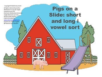 Long/Short Vowel Intervention:  i Vowel Sort Center (K-2, 13pgs.)