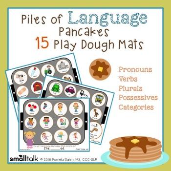 Piles of  Language Pancakes Play Dough Mats