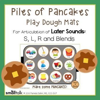 Piles of Pancakes Play Dough Mats for Articulation: S, L,