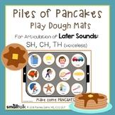 Piles of Pancakes Play Dough Mats for Articulation: SH, CH