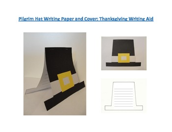 Shaped Writing Page and Cover (Pilgrim Hat): Thanksgiving
