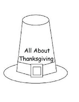 Pilgrim Hat Thanksgiving Printable Workbook (Speech, Early