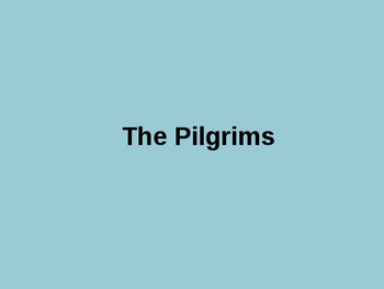 Pilgrim Picture PowerPoint
