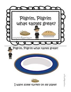 Pilgrim, Pilgrim What Tastes Great? - A Thanksgiving Vocab