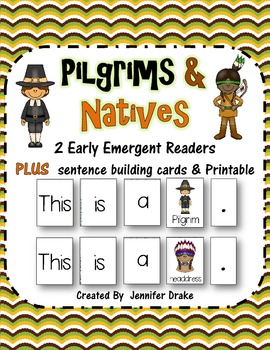 Pilgrims & Native Americans! 2 Early Emergent Reader PLUS