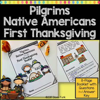 Pilgrims, Native Americans and the First Thanksgiving Booklet