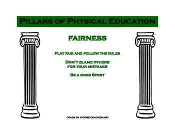 Pillars of Physical Education Posters-Fairness