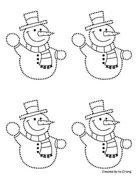 Montessori Pin-Punching Snowman