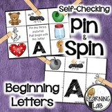 Beginning Letters - A Pin & Spin Activity