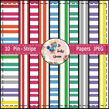 Pin Striped Papers (Digital Papers for Commercial Use)