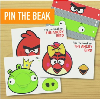 Pin the Tail on the Donkey (Angry Birds Edition)