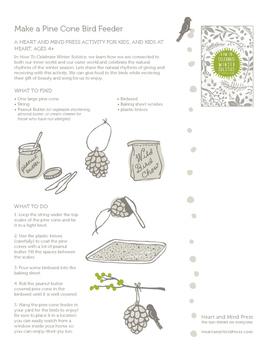 Winter Solstice Activities - Make a Peanut Butter Pine Con