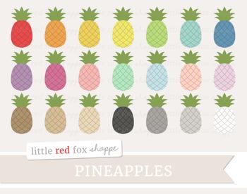Pineapple Clipart; Fruit