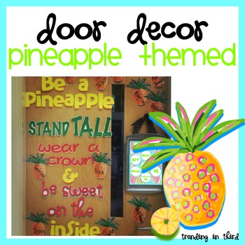 Pineapple Door Decor {Limited Time Freebie!}
