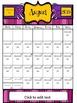 Pink 2015-2016 Blank and Editable Calendar