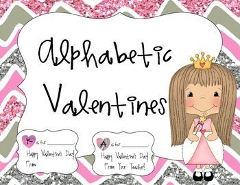Pink Alphabetic Valentines