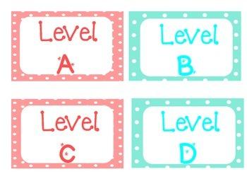 Pink & Aqua Polka Dot Classroom Library Labels
