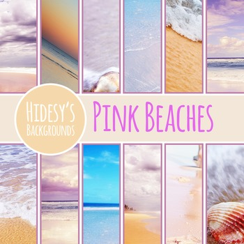 Pink Beach Digital Papers / Backgrounds / Photos for Comme