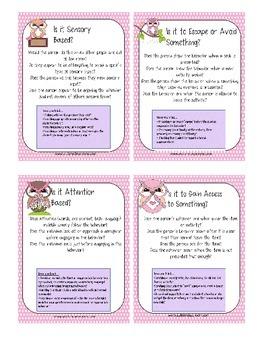 Pink Behavior Cards 4 - Special Order