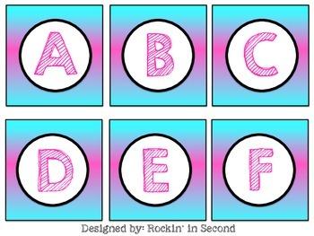 Pink & Blue Letter Cards FREEBIE