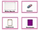 Pink Checkerboard Supply Labels