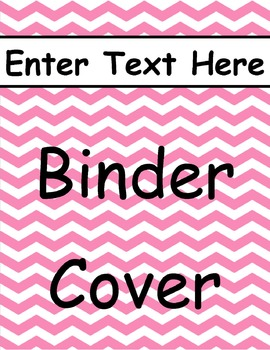 Pink Chevron Binder Cover