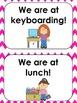 Pink Chevron Classroom Door Signs (We are at...)