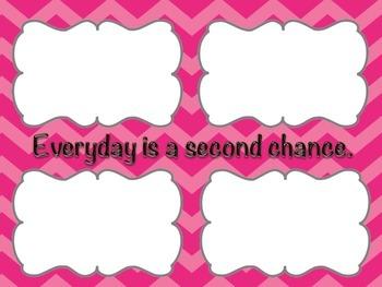 Pink Chevron Desktop Wallpaper