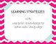 Pink Chevron ELPS Cards