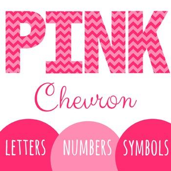Pink Chevron Letters