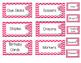 Pink Chevron Teacher Tool Box Set