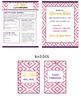 Pink Chevron Teacher Stationery Suite with Editable Teache