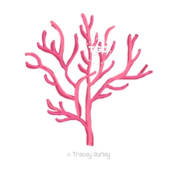 Pink Coral, style 3 - pink coral clip art Printable Tracey